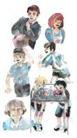 watercolor skech dump by ImTwinkling