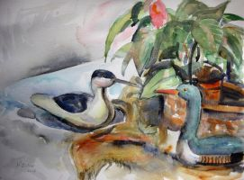 Still life with decoys by karincharlotte