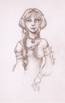 Magrat Garlic Queen of Lancre by sarahmoule