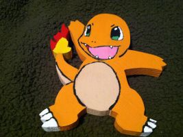 Charmander Wooden Figure by daghostz