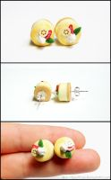 Cheesecake Post Earrings - Strawberry Banana by Bon-AppetEats