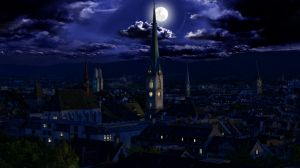 Little town by night by leusomir