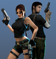 Lara and Kurtis render by AdriennSteel