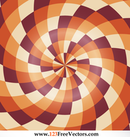 Abstract Colorful Optical Illusion Image by 123freevectors