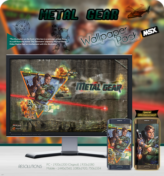 Metal Gear - Wallpaper Pack MSX by kontxouso