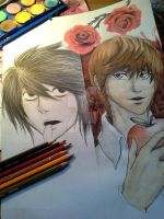 Death Note: Forbidden Fruit WIP by AKFid