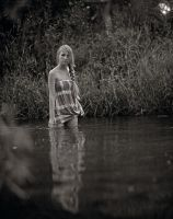 Girl on the river by cosmograph