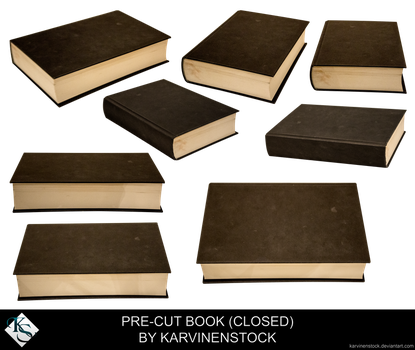 Closed Book (Pre-cut Stock) by KarvinenStock