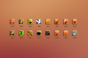 16 Icons Png and Ico format by vitago