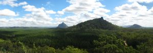 Glass House Mountains Panorama by snaphappy7530