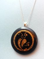 Leaf Medallion Fused Glass by FusedElegance