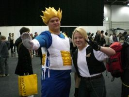 Vegeta and 18 MCM Expo by FAshi0nAblii-LAt3