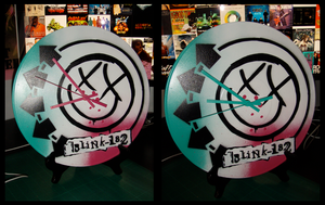 Blink-182 clock by artbyabbey