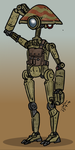 Star Wars - Wavy the pit droid by Konquistador
