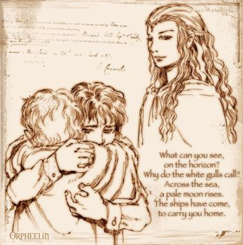 .: Frodo, Sam and Galadriel :. by Orpheelin