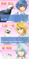 Cry Reaction to Guys in Hatoful Boyfriend by arashidaisuki