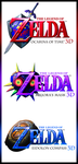 Zelda 'Hero of Time' 3DS ''Trilogy'' (Bordered) by AzureParagon