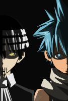 Death the Kid and Black Star by B1ueW0lf