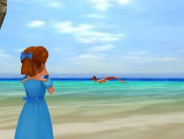 MMD Wendy finds a mermaid by MrMario31095