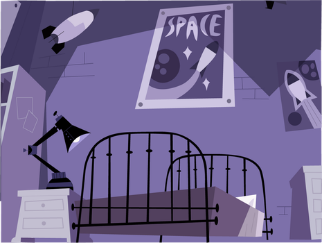 Danny's Room Front View Vector by icantunloveyou
