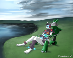 Just relaxing by Pikuna