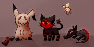 4 Edgy Pokemon by Lucabyte