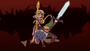 Zelda and Link: Surrounded by totalnonsense89