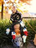 Indian totem pole for class by HopieNoelle