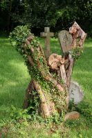Tree Stump Grave by GothicBohemianStock