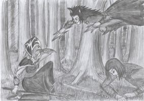 Witch, mage and half-wolf by Xpuk