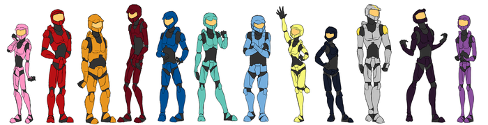 Red vs Blue Cast by Zombaits