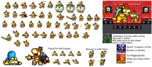 Bowser Jr Sprites by ValAndy7