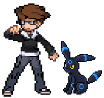 Me And My Umbreon by thegamemaster27