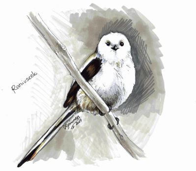 Long-tailed tit by TigaLioness