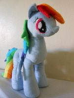 MLP FiM:Rainbow Dash plush by Tawny0wl