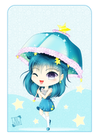 Chibi Stella under the stars by BluAjisai