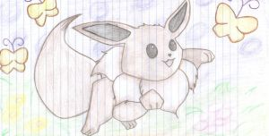 Cute Cuddly Eevee by XxPaperLacexX