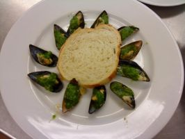 Mussels with Salsa Verde by PrincesaNamine