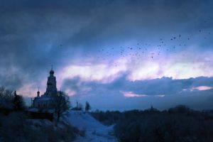 Vyazma. View of the cathedral hill. by RA-101
