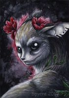 TEF: Freaky fawn with poppies by Spyrre