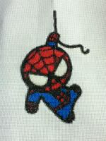 Chibi Spiderman Cross Stitch by TwilightImp626