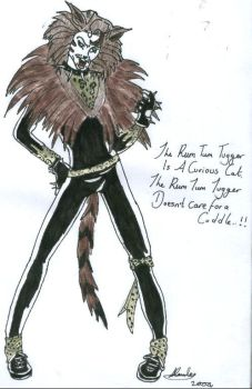 The Rum Tum Tugger Coloured by Flames-Ignite