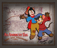 Collab: Happy 29th Anniversary 'An American Tail' by KUWTComicsInc