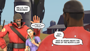 Hello, fat Demoman! by PrincessBloodyMary