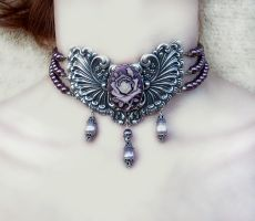 Burgundy Princess Choker by Aranwen