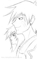 Outlaw Star - Captain and Navigator by kelly42fox