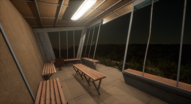 Busstop in the nowhere - Unreal Engine 4 by Sipi1989