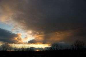 Todays evening sky 4 by steppelandstock