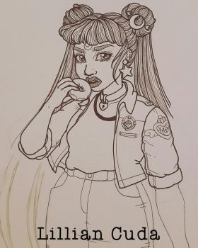 Sailor Moon Usagi Sketchbook by witchhboy