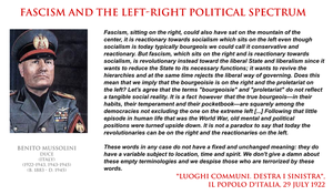 Benito Mussolini - Fascism and left-right spectrum by YamaLama1986